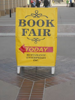 Book Fair Today Sign