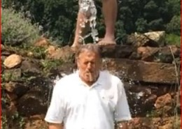 "John Grisham takes the Ice Bucket Challenge after being challenged by his ""former friend Stephen King who's now just a mere acquaintance."""