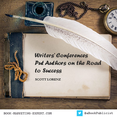 Writers' Conferences are part of overall book marketing strategy.